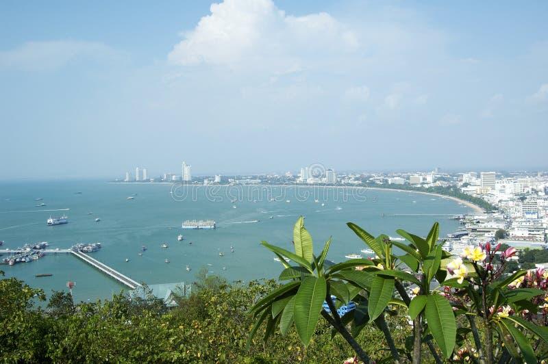залив pattaya стоковое изображение rf