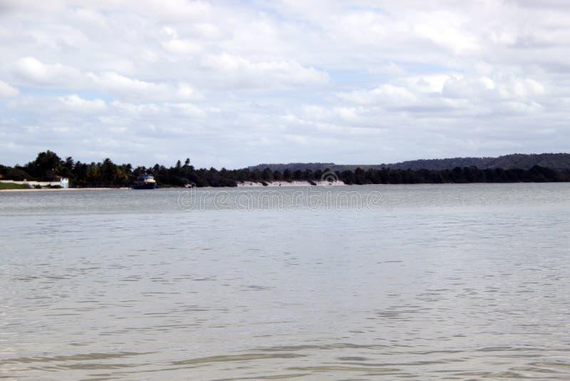 Залив ` s ¡ Paranaguà на пасмурном wheather стоковое изображение rf