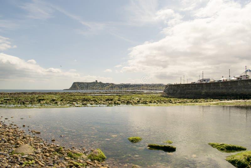 Залив Scarborough северный, северный Йоркшир, Англия, Великобритания стоковые изображения