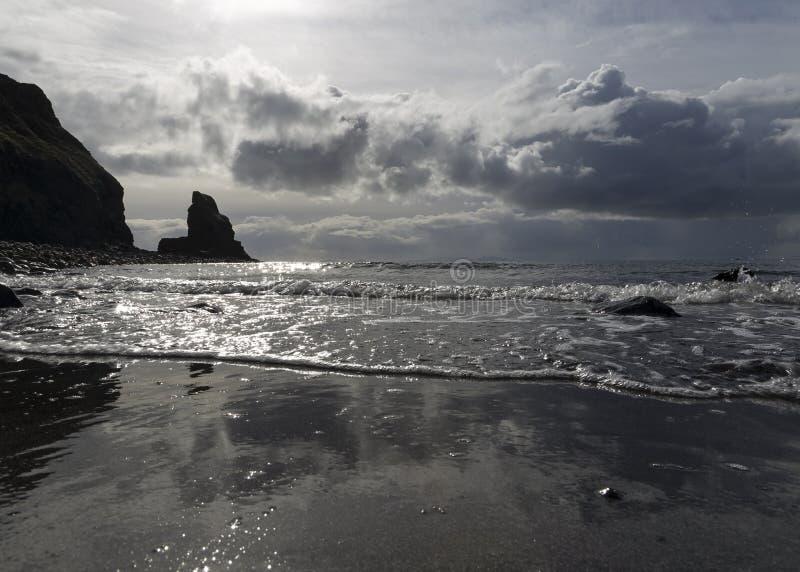 Залив Talisker в шторме стоковое изображение