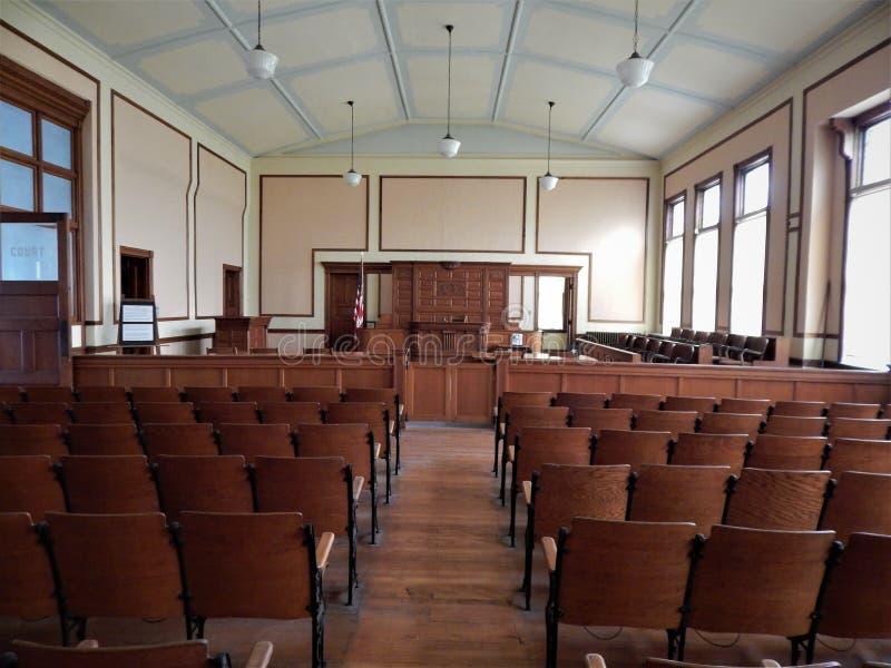 Зал судебных заседаний исторического здания суда Marshall County стоковые изображения