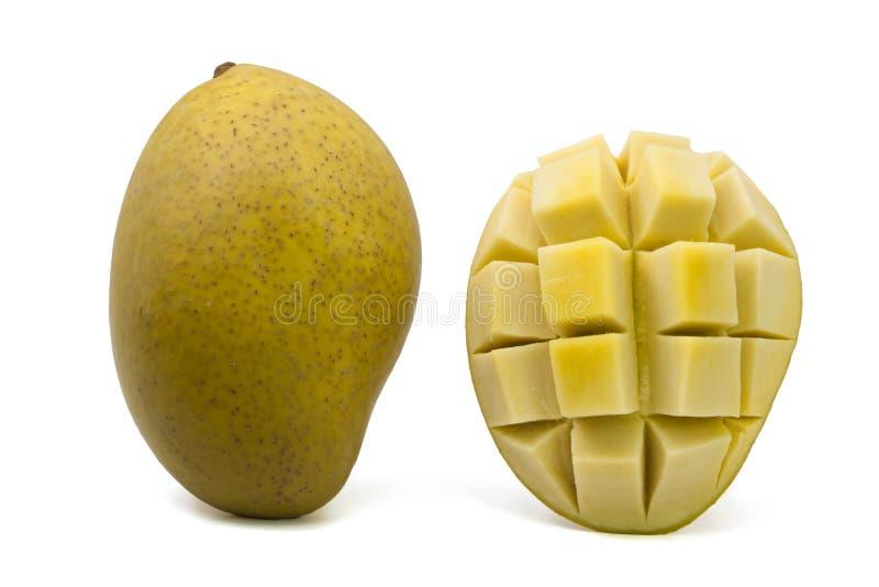 Замаринованное манго на белой предпосылке стоковое фото rf