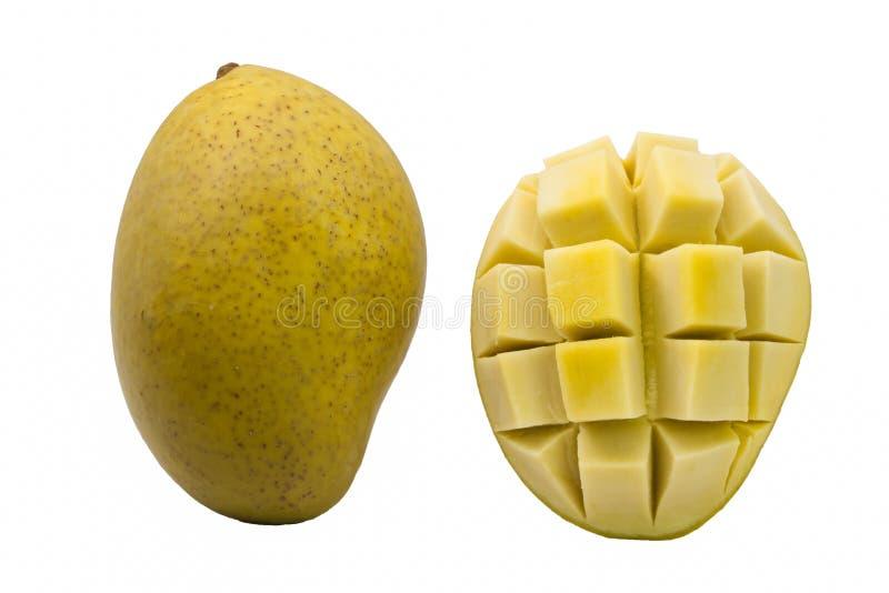 Замаринованное манго на белой предпосылке стоковые изображения rf