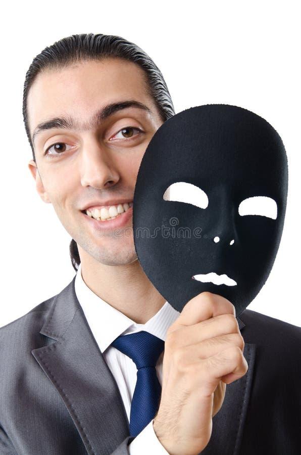 замаскированное промышленное шпионства принципиальной схемы бизнесмена стоковые фото