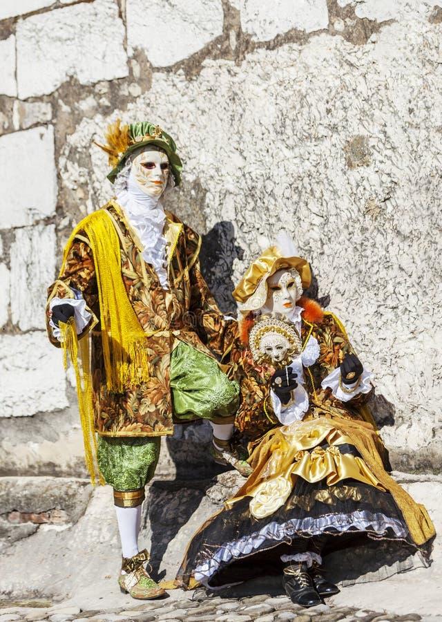 Замаскированный соедините - масленицу 2014 Анси венецианскую стоковое изображение