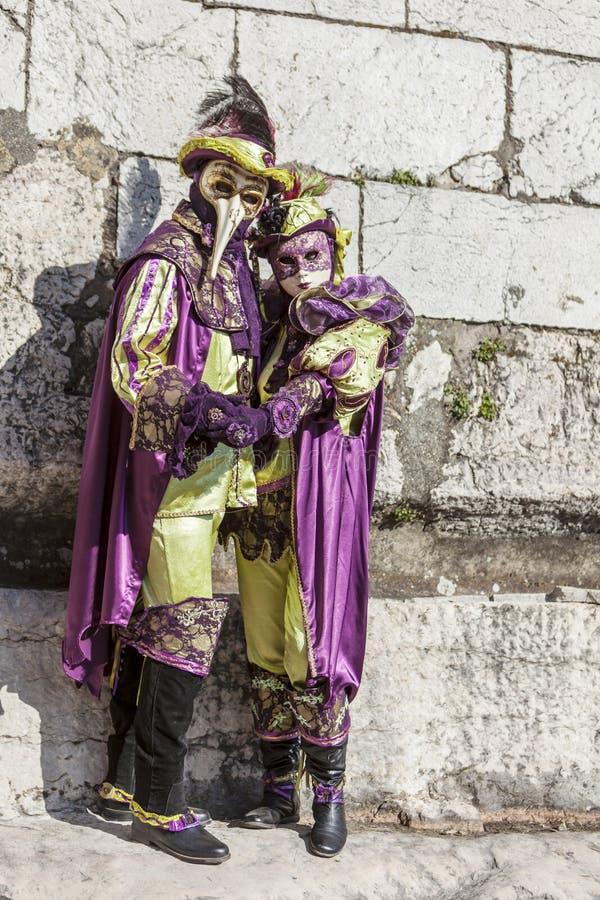 Замаскированный соедините - масленицу 2014 Анси венецианскую стоковые фото
