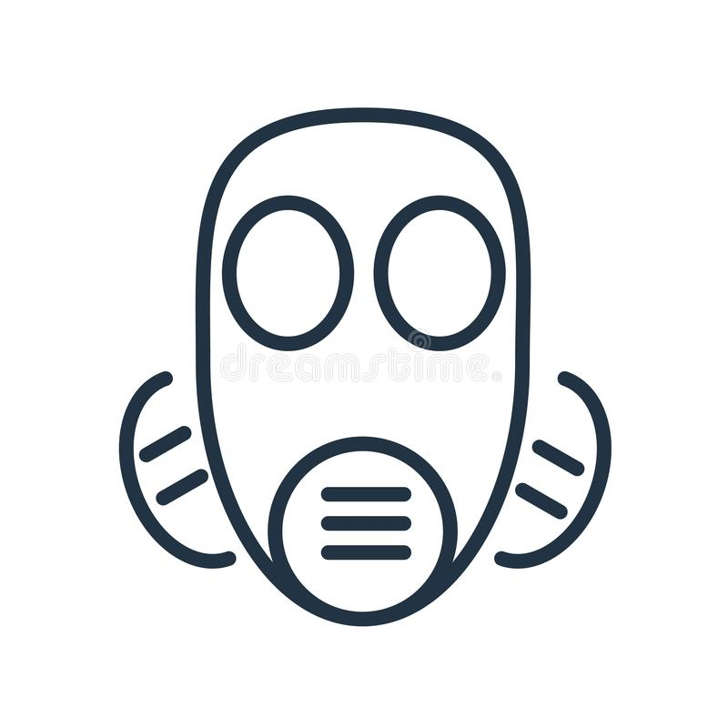 Замаскируйте вектор значка изолированный на белой предпосылке, знаке маски иллюстрация вектора