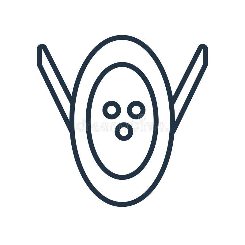 Замаскируйте вектор значка изолированный на белой предпосылке, знаке маски иллюстрация штока
