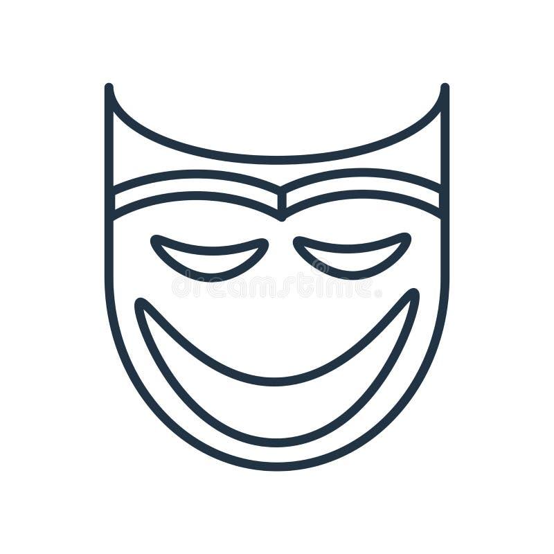 Замаскируйте вектор значка изолированный на белой предпосылке, знаке маски бесплатная иллюстрация