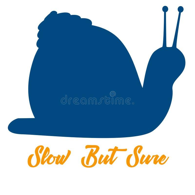 Замедляйте но конечно - логотип улитки бесплатная иллюстрация