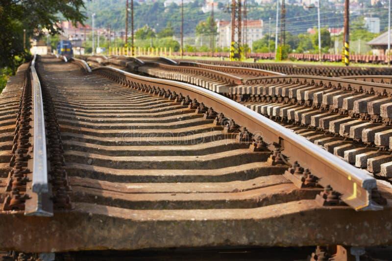 Замена железнодорожного пути стоковое фото rf