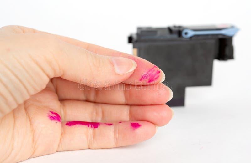 Замена печатающей головки для прокладчика стоковое изображение rf