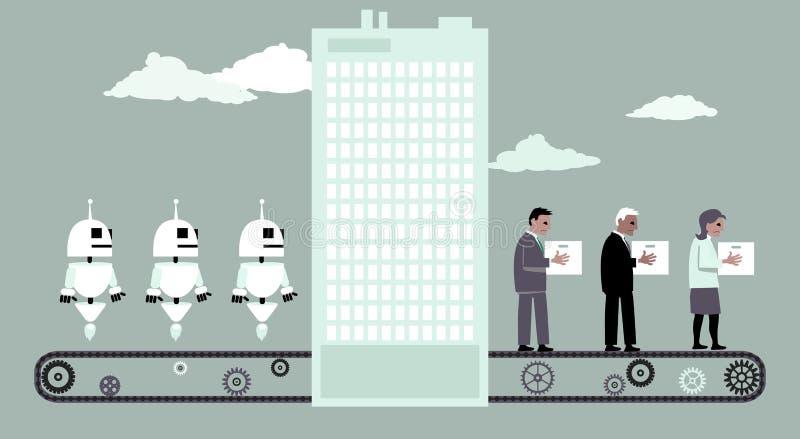 Замененный роботами иллюстрация штока