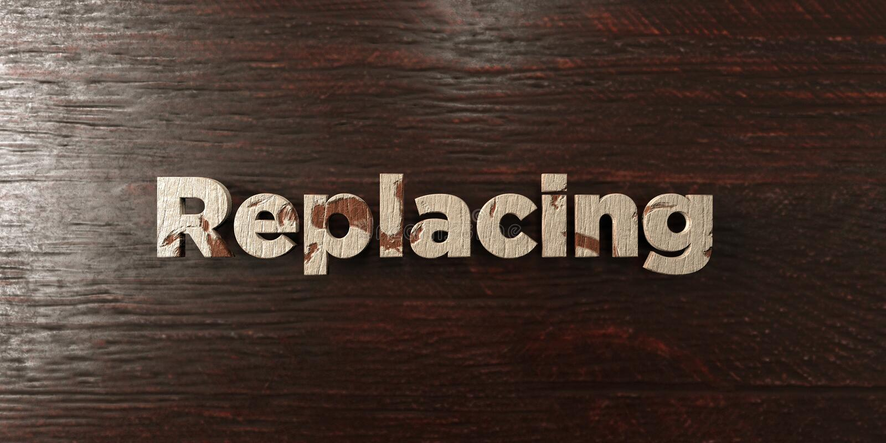 Заменять - grungy деревянный заголовок на клене - 3D представил изображение неизрасходованного запаса королевской власти бесплатная иллюстрация