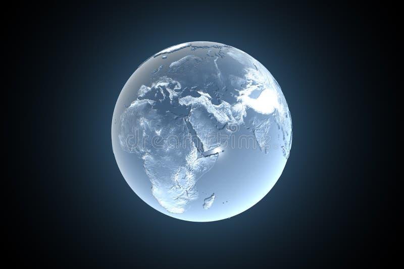 замерзать земли иллюстрация штока