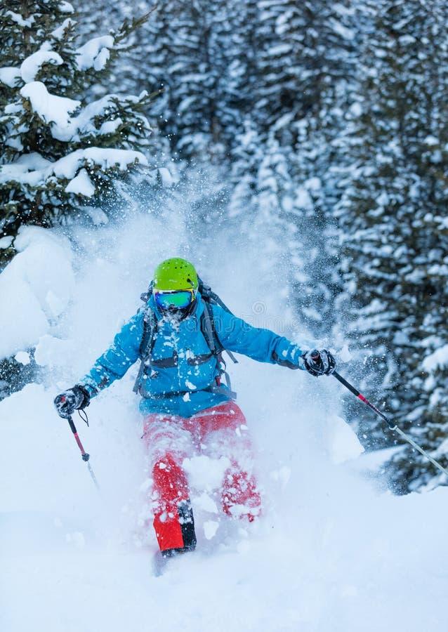 Download Замерзните движение Freerider в глубоком снеге порошка Стоковое Фото - изображение насчитывающей напольно, движение: 81801356