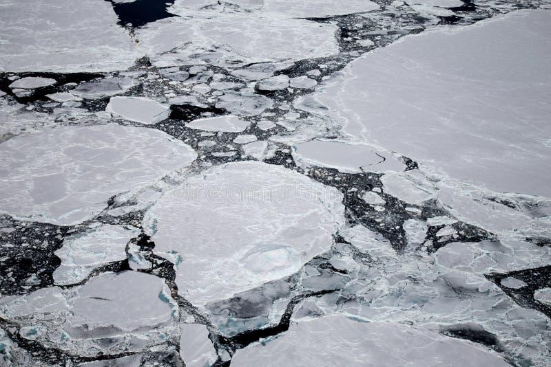 Замерли айсберг в Антарктике, снятый вертолет стоковое изображение rf