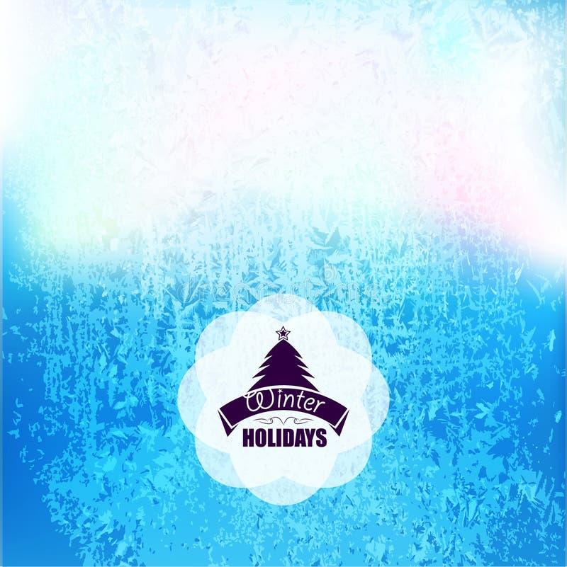 Замерли вектором, который текстура предпосылки заморозка Предпосылка стеклянного льда снега - холодная и свежая Зима с деревом xm иллюстрация вектора
