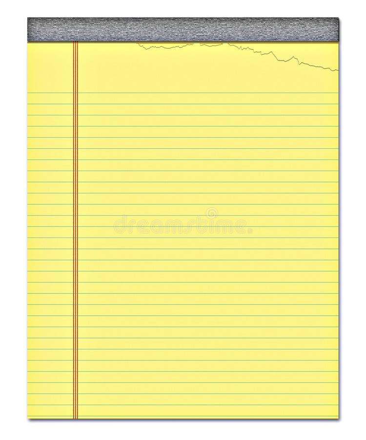 заметьте желтый цвет блокнота бумажный иллюстрация штока
