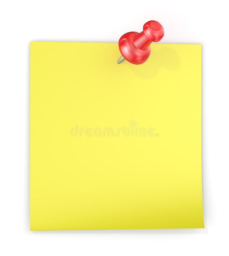 заметьте липкий желтый цвет бесплатная иллюстрация