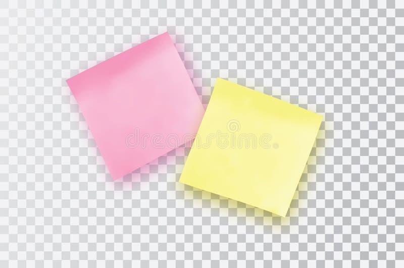 заметьте розовый липкий желтый цвет Шаблон для ваших проектов иллюстрация штока