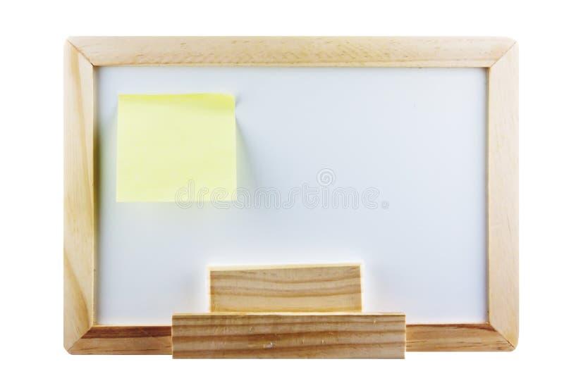 заметьте Whiteboard столба Стоковая Фотография