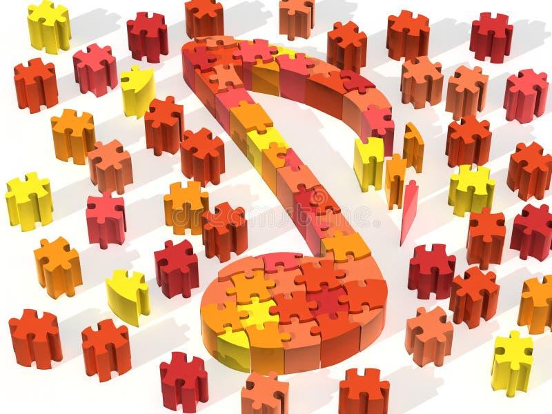 замечает померанцовую головоломку стоковое изображение rf
