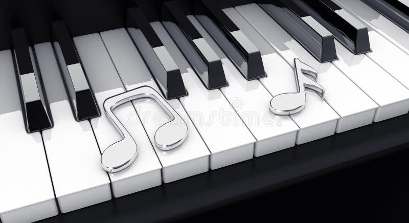замечает рояль иллюстрация вектора