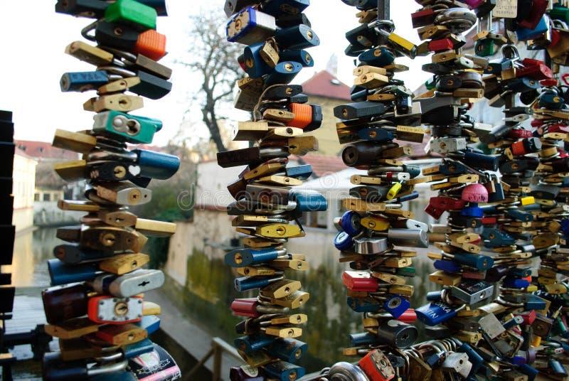 Замки влюбленности, Прага стоковые фотографии rf