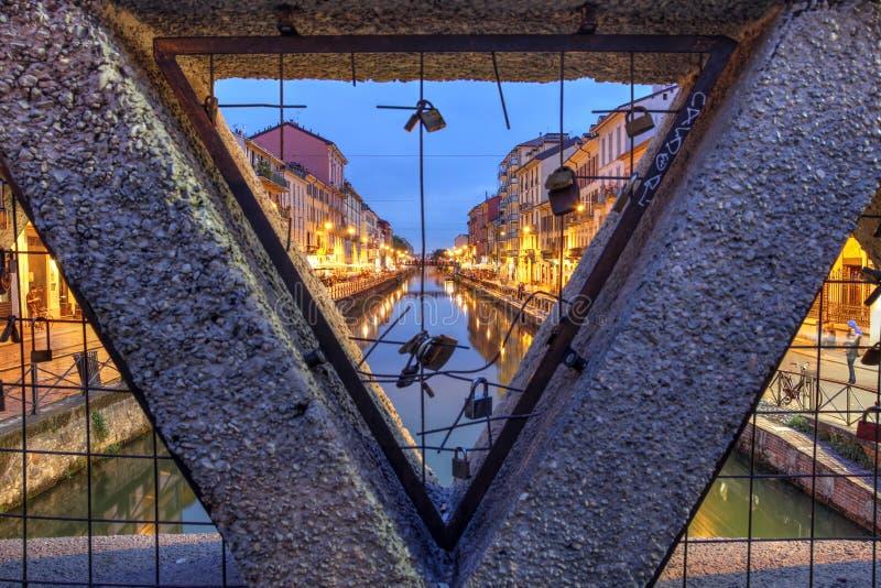 Замки влюбленности в милане, Италии стоковая фотография