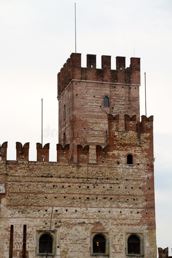 Замки Marostica средневековые, Италия стоковое фото rf