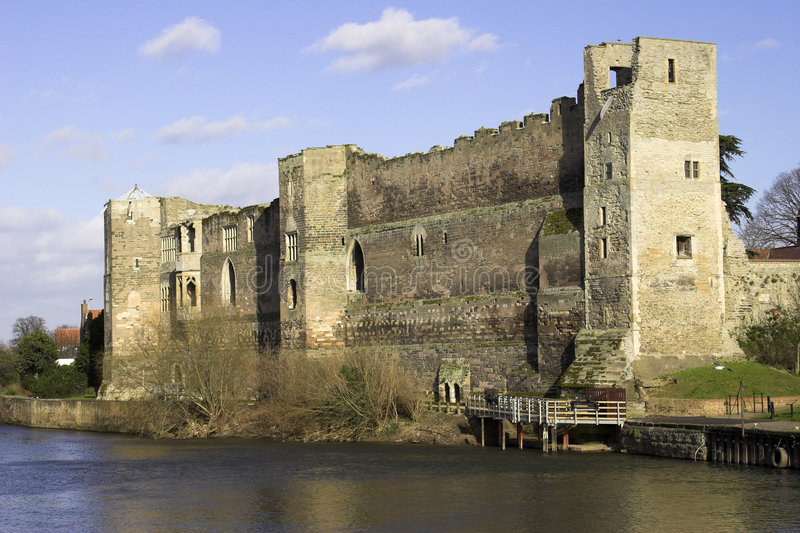замок Англия newark nottinghamshire стоковое изображение rf