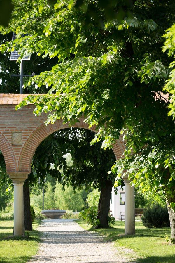 замок аркады старый стоковое изображение
