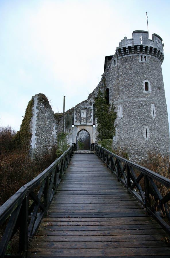 замок ая Франция стоковые изображения rf