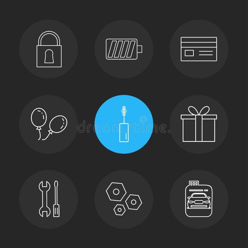 замок, батарея, карточка, giftbox, автомобиль, maskara, гайка, болт, scr иллюстрация штока