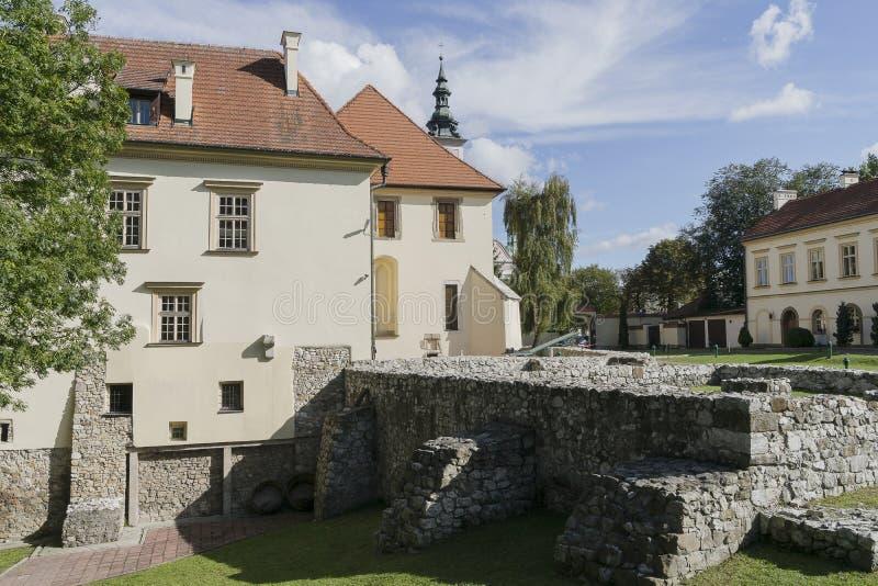 Замок варницы в Wieliczka около Кракова стоковые фотографии rf