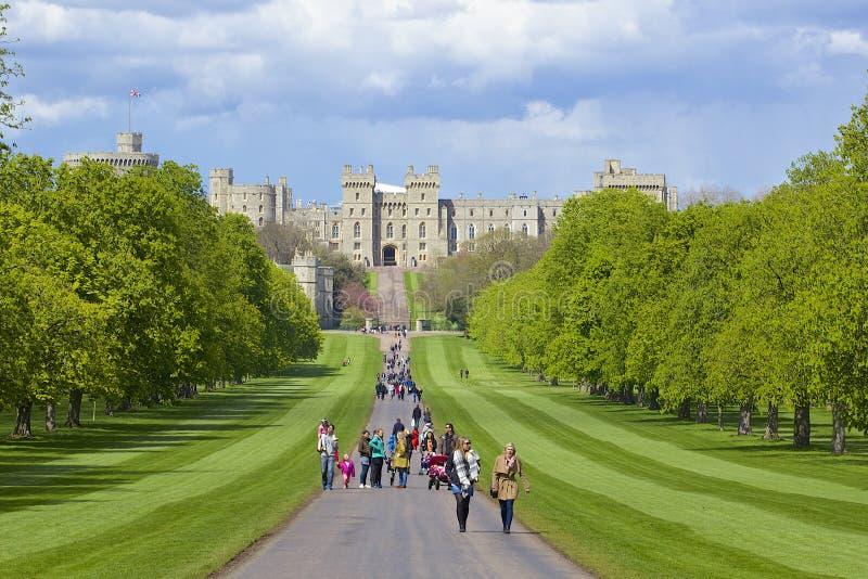 Замок Виндзора и большой парк, Англия стоковое фото rf