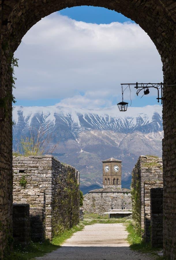 Замок в Албании стоковое изображение