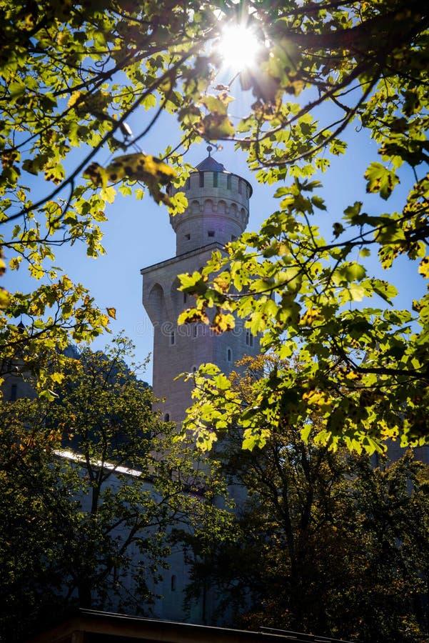 Замок в солнечности стоковое изображение rf