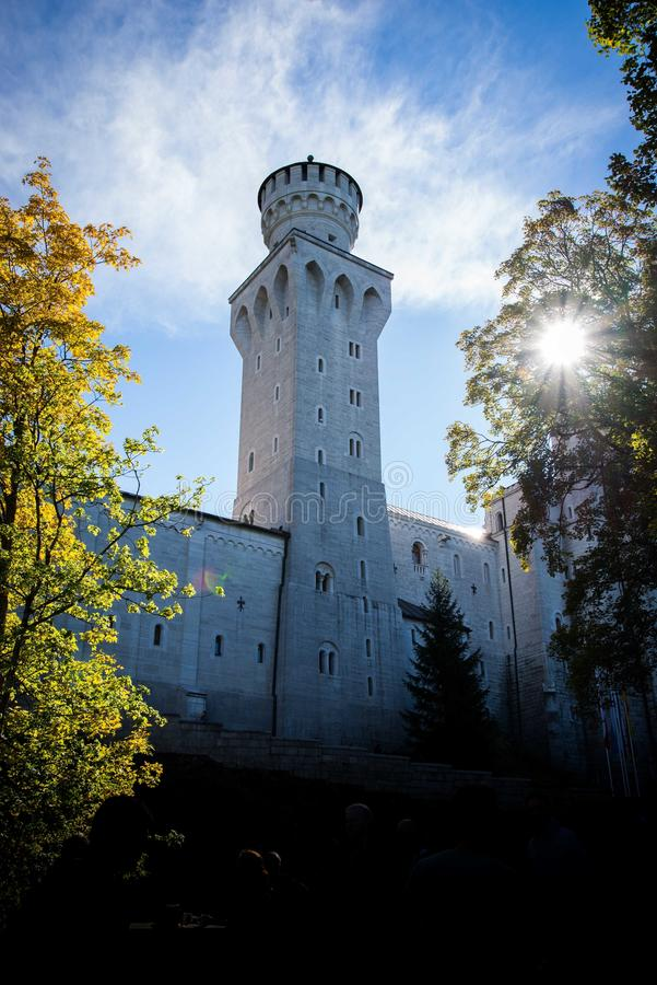Замок в солнечности 02 стоковое фото rf