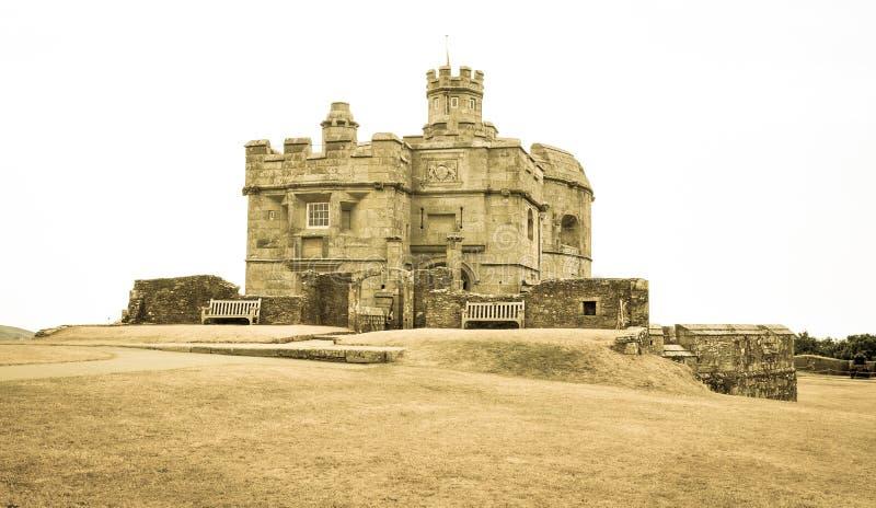 Замок в Фолмут, Англия Pendennis стоковые изображения rf