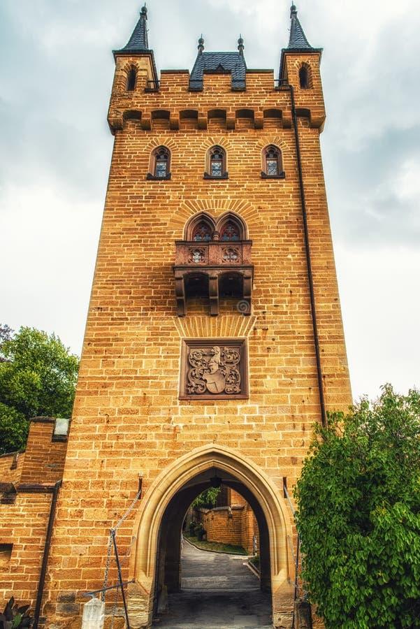 Замок в черном лесе, Германия Hohenzollern стоковая фотография rf