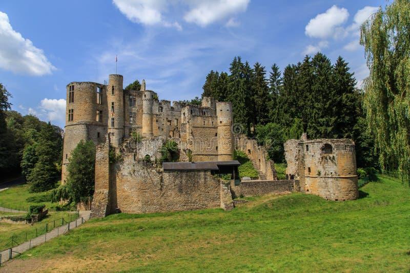 Замок в Beaufort, Люксембурге стоковая фотография rf