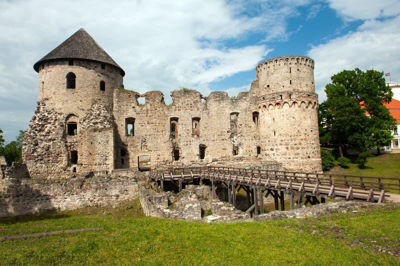 Замок в Cesis стоковые изображения