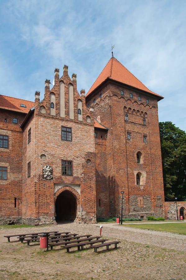 Замок в Nidzica Польше стоковые фотографии rf