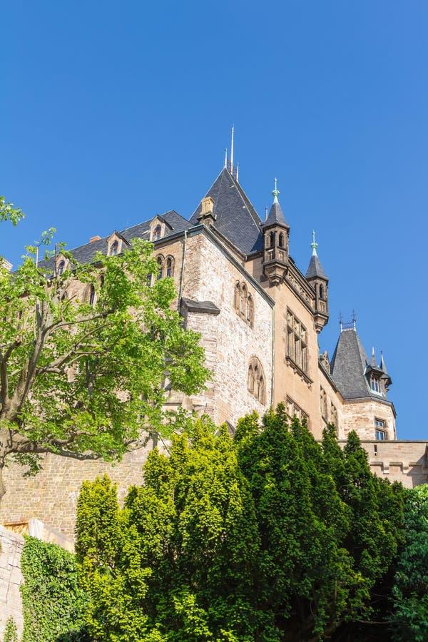 Замок в Wernigerode в Германии стоковое фото