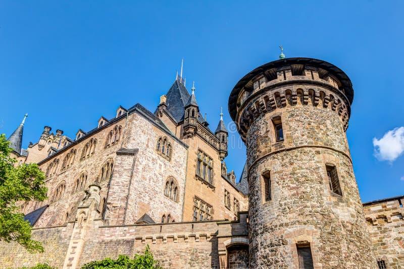 Замок в Wernigerode в Германии стоковая фотография