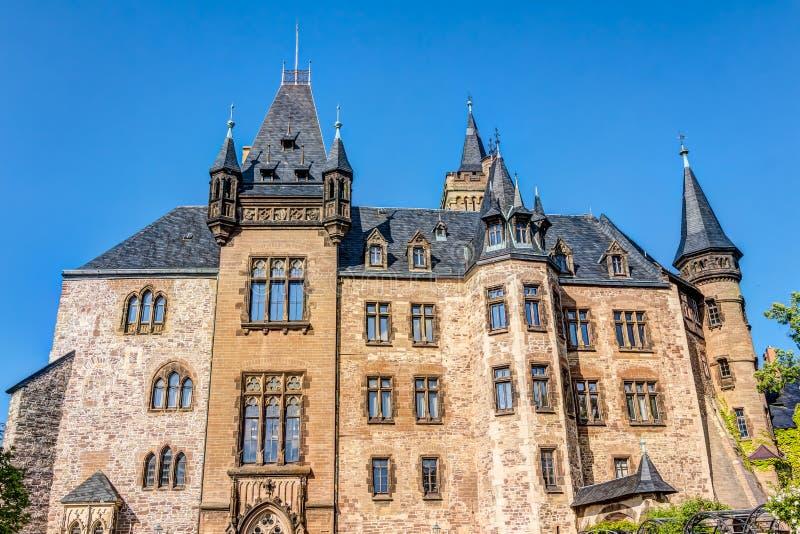 Замок в Wernigerode в Германии стоковое фото rf