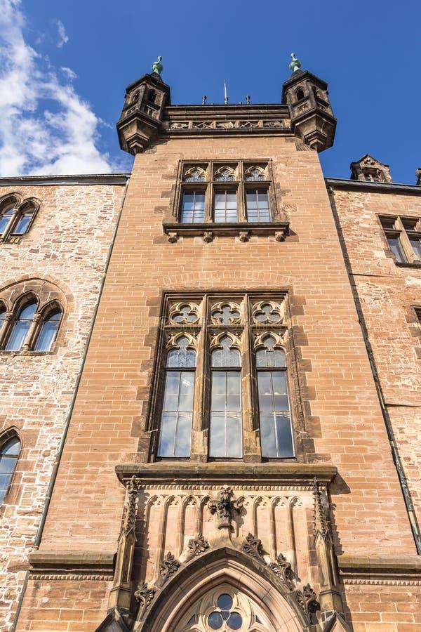 Замок в Wernigerode в Германии стоковые изображения rf