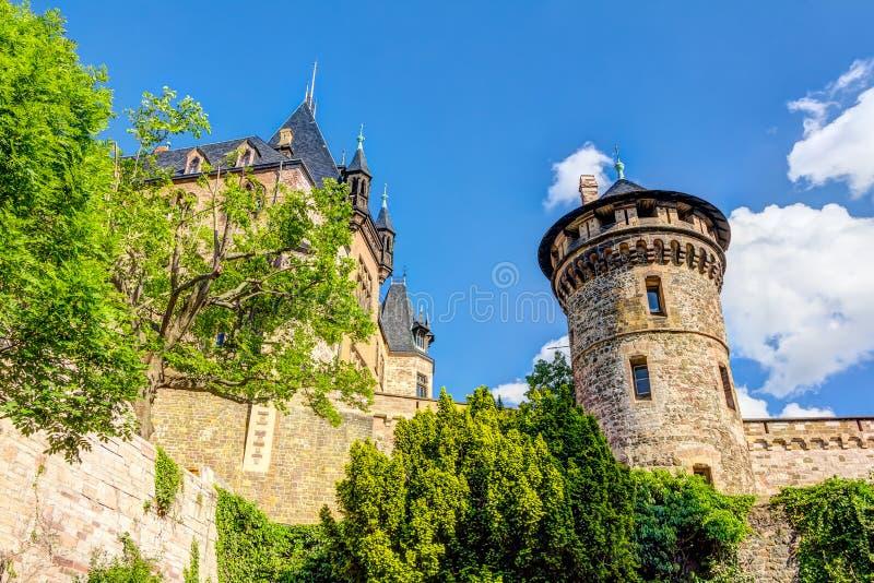 Замок в Wernigerode в Германии стоковое изображение